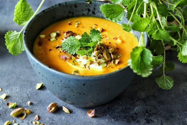Proteinrig gulerodssuppe med rom