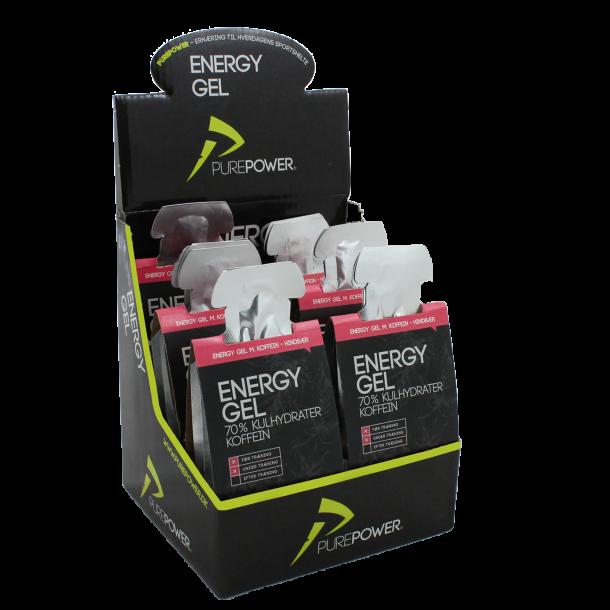 Energy Gel Hindbær m/ koffein 6 x 3 stk