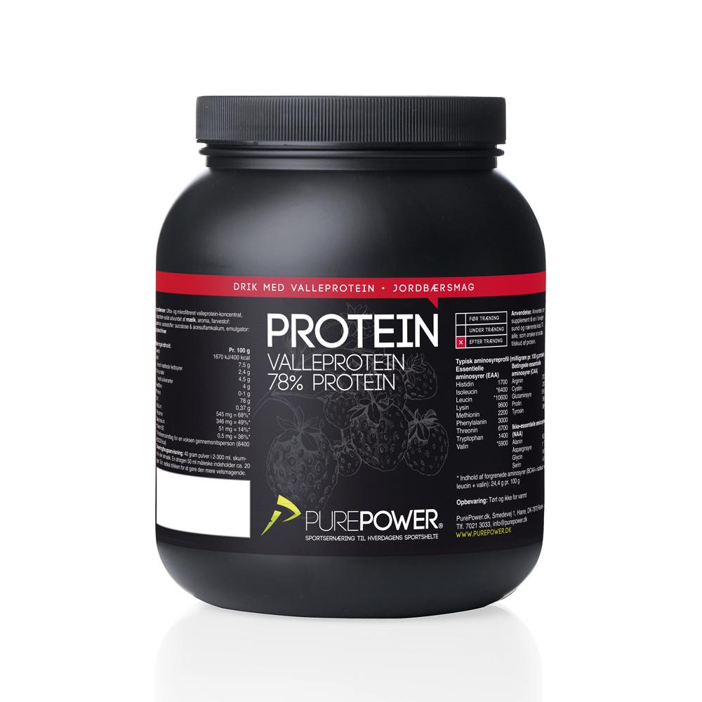 Valleprotein Jordbær 1 kg