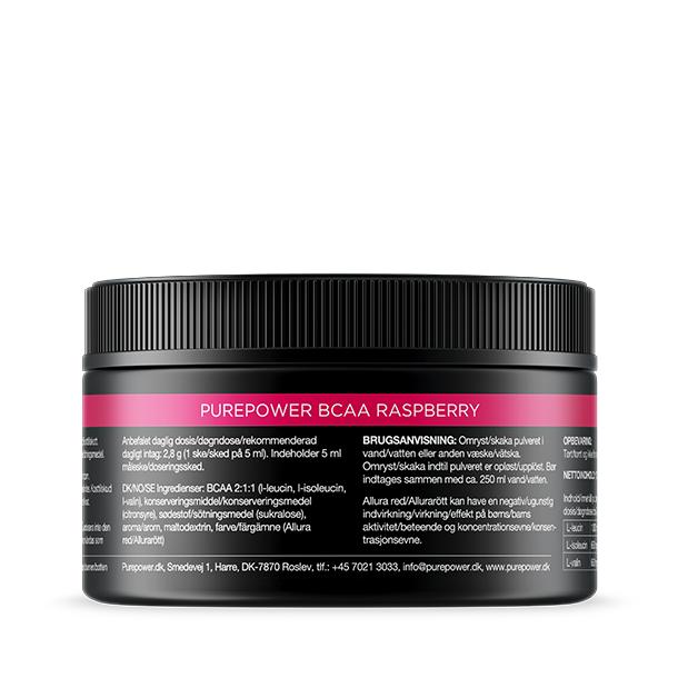 PurePower BCAA Hindbær 150g   item_misc